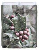 Snowy Holly Duvet Cover