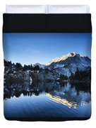 Snowy Mountain Reflections Duvet Cover