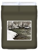 Snowy Mountain River Duvet Cover