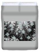 Snowy Night I Fractal Duvet Cover
