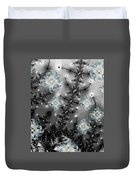Snowy Night II Fractal Duvet Cover