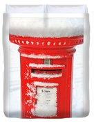 Snowy Pillar Box Duvet Cover