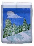 Snowy Pines Duvet Cover