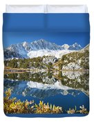 Snowy Reflections On Lake Duvet Cover