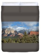 Snowy Sedona Afternoon Duvet Cover