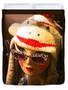 Sock Monkey Zebra Glasses Duvet Cover