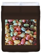Soda Fountain Jelly Bellies Duvet Cover