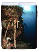 Soft Coral Reef, Indonesia Duvet Cover