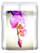 Soft Pink Orchid Duvet Cover