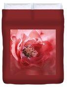 Soft Rose In Square Format Duvet Cover