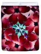 Soft Scarlet Floral Duvet Cover