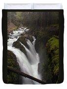 Sol Duc Falls Duvet Cover