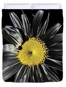 Solarized Daisy Duvet Cover