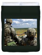 Soldier Feeds Ammunition To His Gunner Duvet Cover by Stocktrek Images