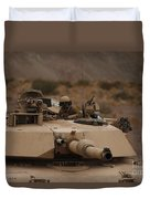 Soldier Looks Out The Main Hatch Duvet Cover