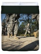 Soldiers Conduct A Ruck March At Fort Duvet Cover