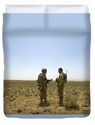 Soldiers Discuss, Drop Zone Duvet Cover