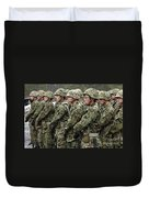 Soldiers From The Japan Ground Self Duvet Cover by Stocktrek Images
