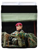 Soldiers Of A Belgian Recce Or Scout Duvet Cover