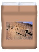Soldiers Patrol To A Village Duvet Cover