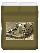 Soldiers Place Tnt Charges Duvet Cover