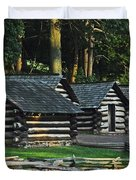 Soldiers Quarters At Valley Forge Duvet Cover
