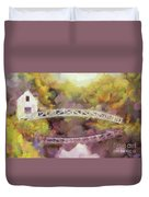 Somes Bridge - Somesville Maine Duvet Cover