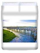 Soundside Park Surf City Duvet Cover