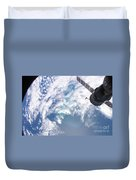 South Atlantic Plankton Bloom Duvet Cover