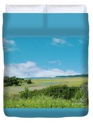 South Carolina Coastal Marsh Duvet Cover