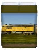 South Dakota Central Train Duvet Cover