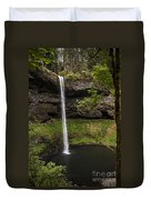South Silver Falls Into The Pool Duvet Cover