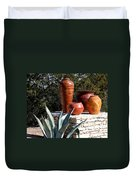 South Western Pottery And Cactus Duvet Cover