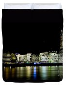 Southbank London At Night Duvet Cover