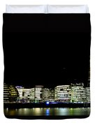Southbank View Across The River Thames Duvet Cover