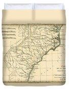 Southeast Coast Of America Duvet Cover