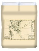 Southern India And Ceylon Duvet Cover