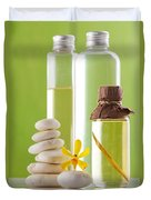 Spa Oil Bottles Duvet Cover