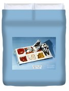 Space: Food Tray, 1982 Duvet Cover