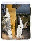 Space Shuttle Atlantis Lifts Duvet Cover