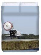 Space Shuttle Atlantis Unfurls Its Drag Duvet Cover