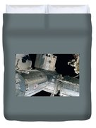 Space Shuttle Discovery And Components Duvet Cover