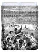 Spain: Bullfight, 1875 Duvet Cover