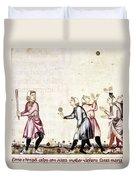 Spain: Medieval Ballgame Duvet Cover