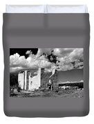 Spanish Mission Ruins Of Quarai Nm Duvet Cover by Christine Till