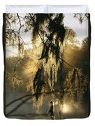 Spanish Moss Hanging From A Tree Branch Duvet Cover