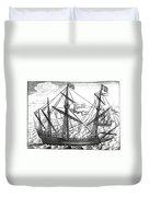Spanish Ship, C1595 Duvet Cover