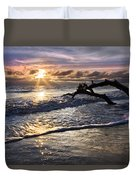 Sparkly Water At Driftwood Beach Duvet Cover