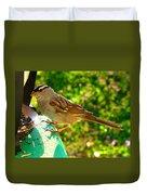 Sparrow In Morning Light  Duvet Cover