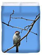 Sparrow On The Branch Duvet Cover